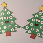 Alfabeto e alberi di natale