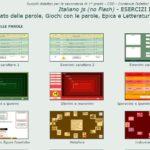 Esercizi interattivi di italiano per la scuola secondaria di I grado: Italiano JS