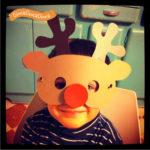 La maschera di Rudolph la renna dal naso rosso