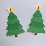Palline numerate sull'albero di Natale
