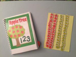 Quaderno numeri,mele e addizioni