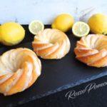 Mini cake yogurt e glassa al limone (senza burro)