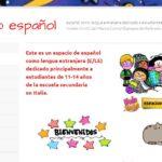 Lo spagnolo per la scuola media in un sito web