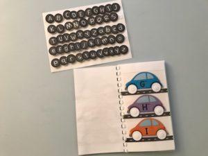 Macchinine e alfabeto