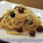 Spaghettoni di gragnano con baccalà mantecato e olive taggiasche