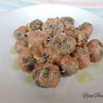 Chicche di patate,farina di castagne e cavolo nero con ricotta (gluten free)