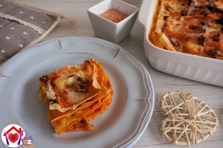 Lasagne con Salsiccia, Stracchino e Salsa Aurora