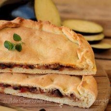 Torta pan brioche con melanzane rustico salato morbido e gustoso