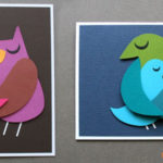 Lavoretti per la Festa della Mamma: teneri uccelli di cartoncino