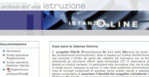 """In scadenza la password di """"Istanze on line"""""""