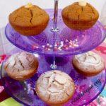 Muffins alle Castagne con Cuore di Cioccolato