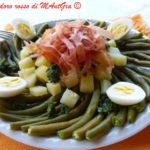Fagiolini, speck e patate in insalata