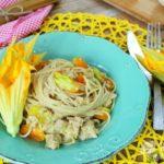 Spaghetti integrali con pomodorini gialli e tonno