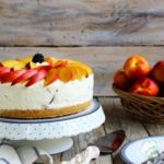 Cheesecake alle pesche e yogurt