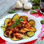 Pennette alla siciliana con melanzane e funghi