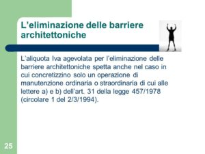 Detrazione per le spese di eliminazione delle barriere architettoniche