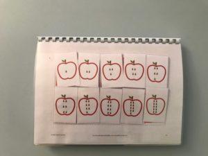 Quaderno mele colori e forme