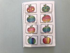 Quaderno scoiattoli gelati e mele