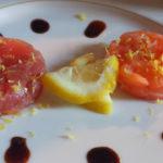Tartare di tonno e salmone all'aceto balsamico stravecchio