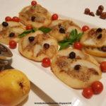 Pizzette con pesto di nocciole, gorgonzola e pere