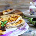 Torta salata di melanzane e prosciutto cotto