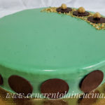 Torta con mousse al tartufo e mandorla tostata.