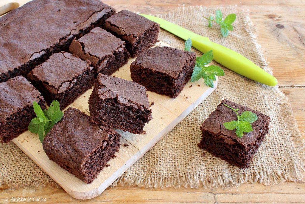 Brownies al cioccolato e menta