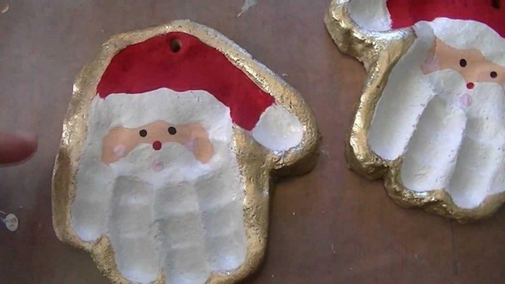 Impronte di manine e piedini: un pensierino per Natale