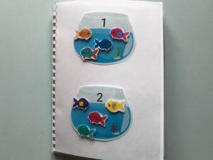 Quaderno acquari colori lettere e forme