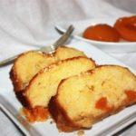 Plum cake con arancia e pesche