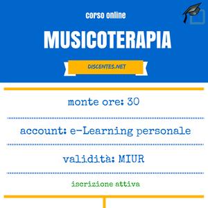 Corso on line di Musicoterapia