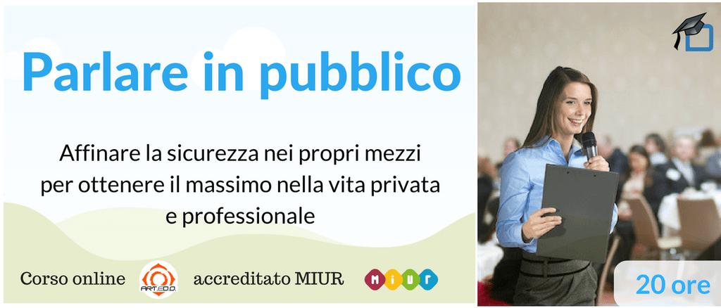 Corso on line Parlare in Pubblico