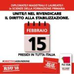 Precari della scuola: il 15 febbraio presidio ad Asti per rivendicare il diritto alla stabilizzazione
