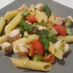 Pasta Elicoidali con asparagi, pollo e pomodorini