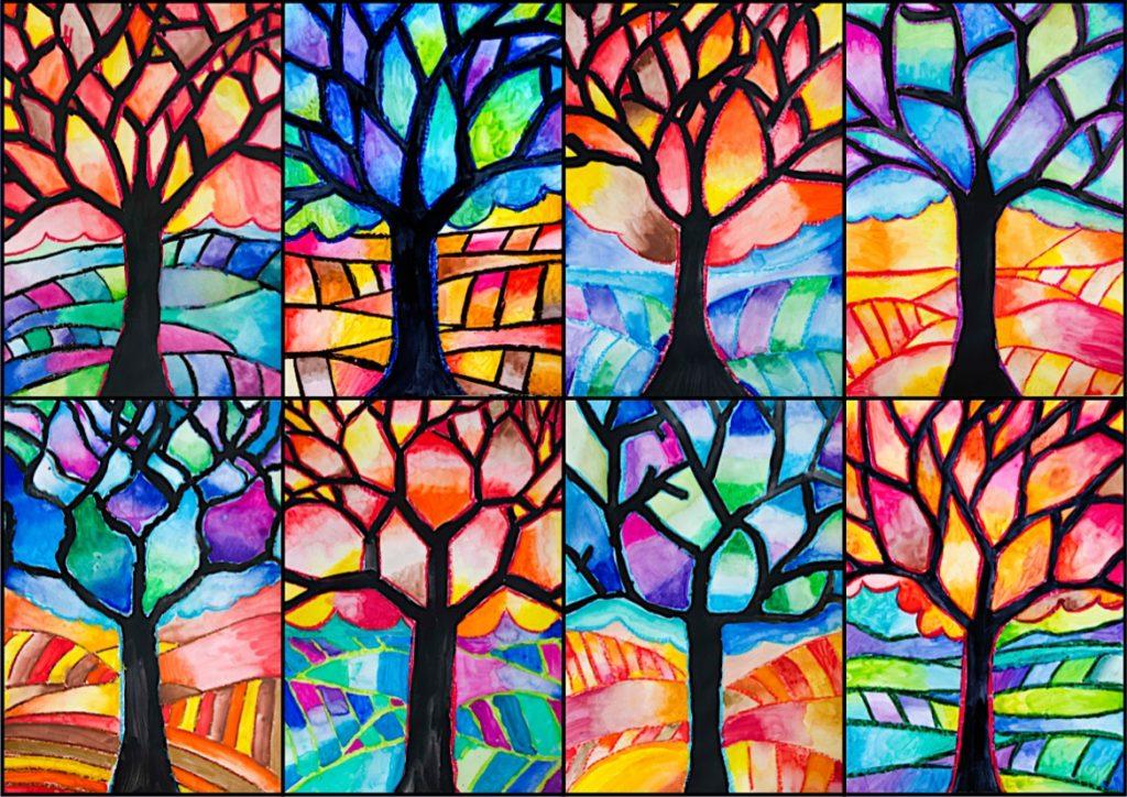 Colori caldi colori freddi finest effetto dei colori with for Disegni a colori caldi