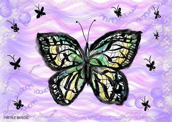 Farfalle Da Colorare Italia4all Scuola